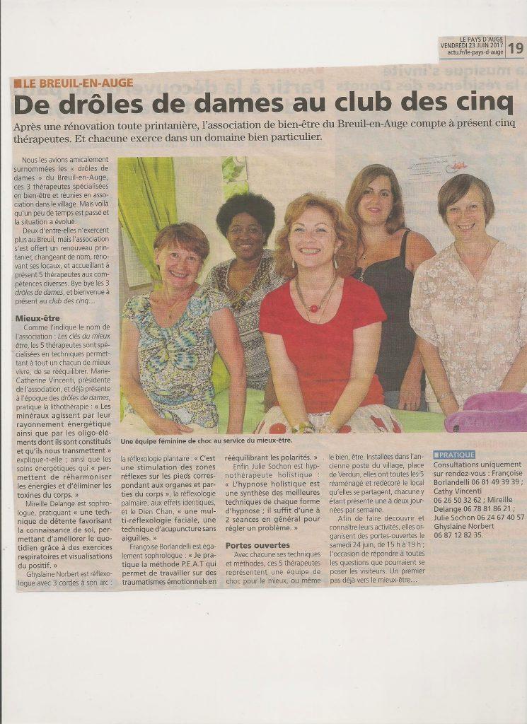 """Réflexo-harmonie a intégré l'association """"les clés du mieux-être"""" au Breuil-en- Auge (Calvados)"""